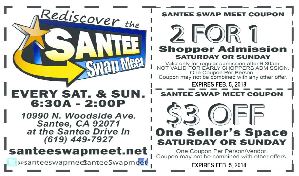 santee swap meet coupon